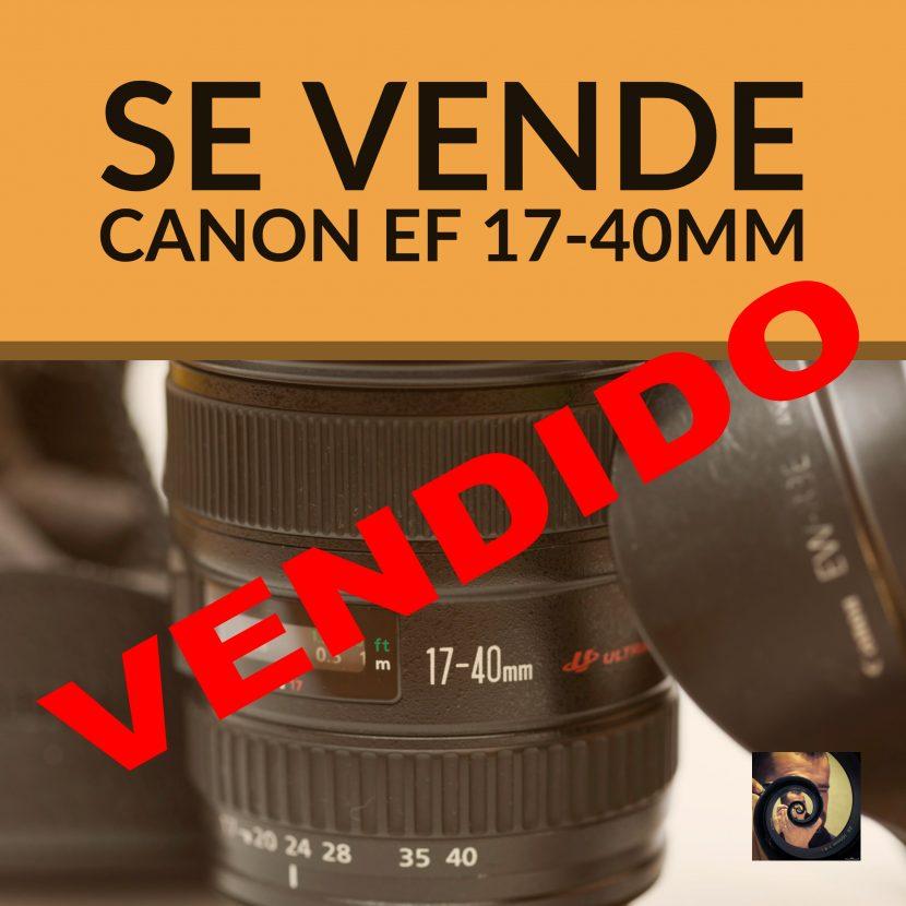Vendido 17-40mm - Jorge Lázaro