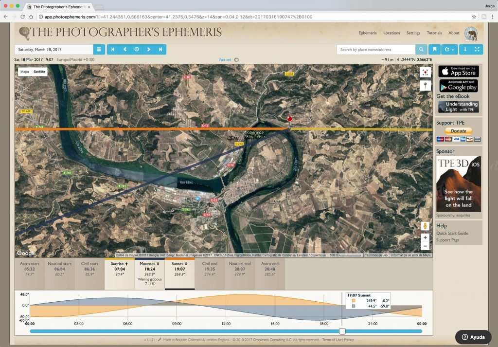 Tutorial Photographer's Ephemeris- jorge lazaro