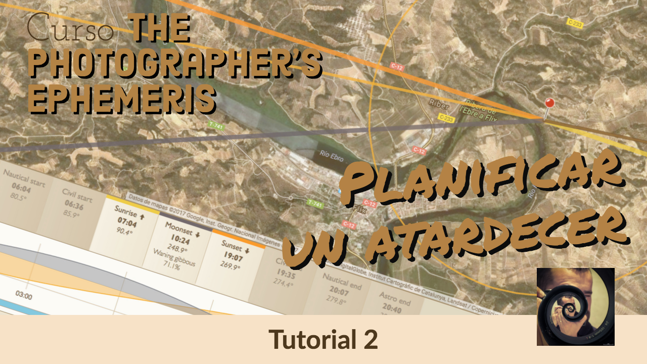 Tutorial Photographer's Ephemeris - jorge lazaro