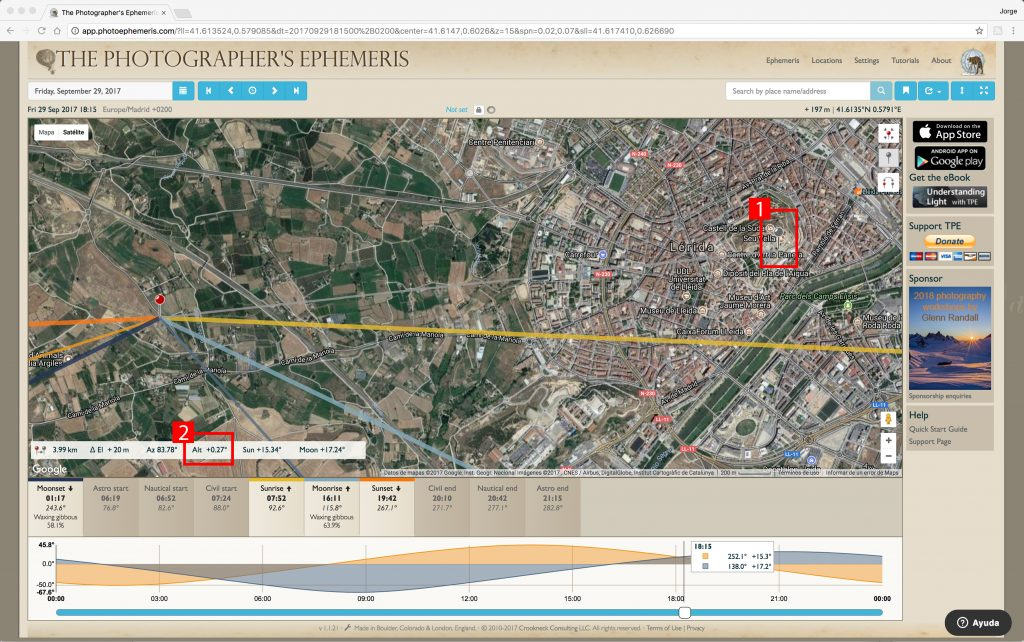 Tutorial Photographer's Ephemeris - Jorge Lázaro