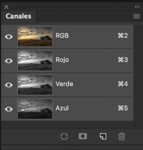 Panel canales de Photoshop - Jorge Lázaro