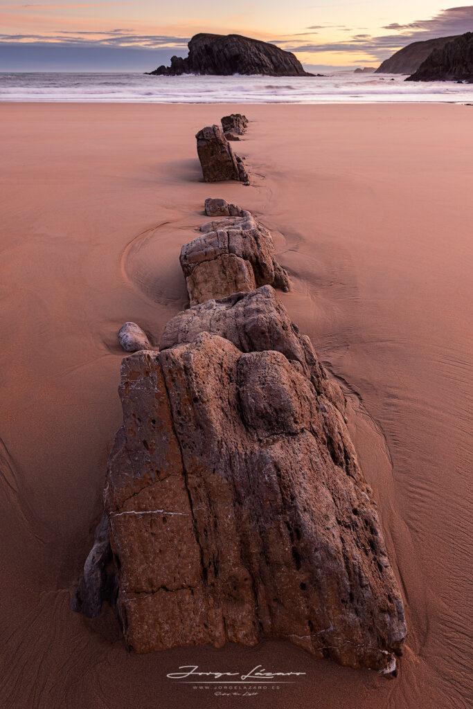 Playa de la Arnía en Cantabria -