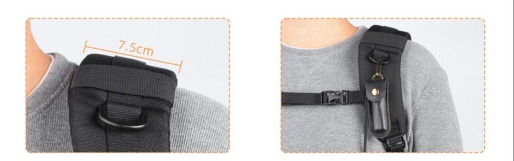 Anilla de plástico en la Mochila K&F Concept